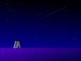 風車と流れ星